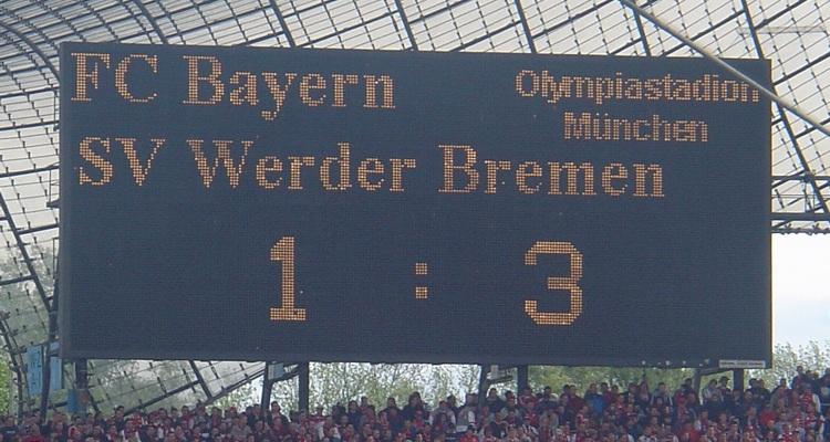 Bayern Werder 1-3