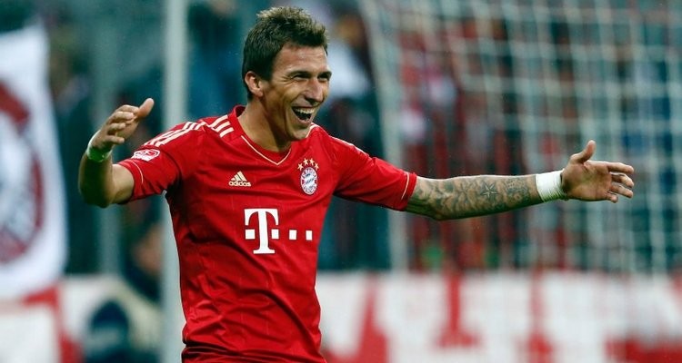 Munich's Mandzukic celebrates a goal during their German Bundesliga match against Stuttgart in Munich